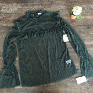 HINGE Nordstrom- lace deep green Victorian style